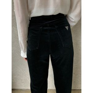 VINTAGE   RARE Guess velvet high waisted jeans USA